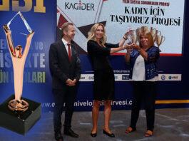 """DFDS ve KAGİDER'in """"Kadın İçin Taşıyoruz"""" projesine ödül"""