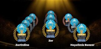 Zer, The Stevie Awards'tan 10 ödülle döndü